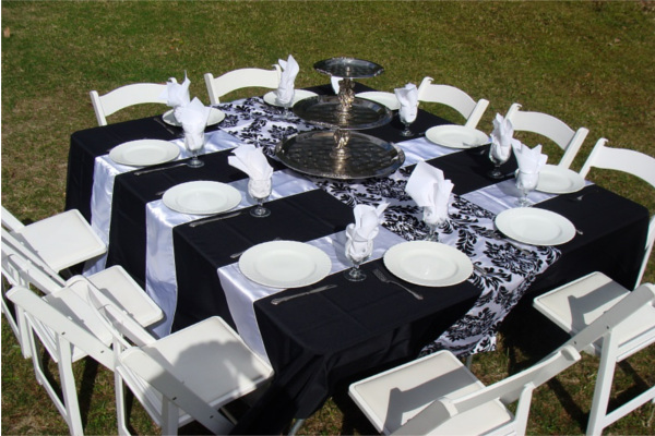 Black & Silver Outdoor Dinner Party