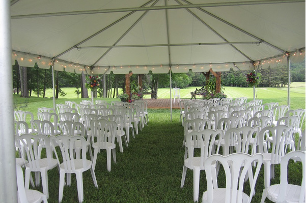 Ceremony under 20x30 Frame Tent