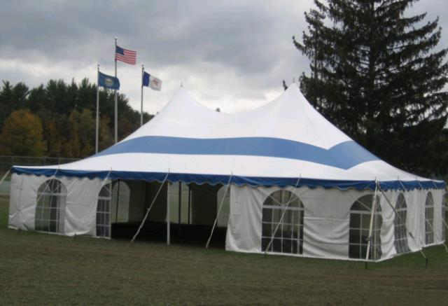 Where to find 30x45 CenturyMate Pole Tent - Blu Wht in Concord