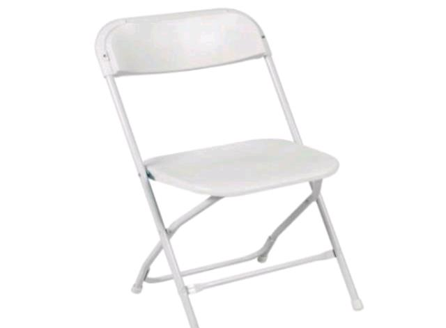 Where to find Chair- White Folding Plastic in Concord