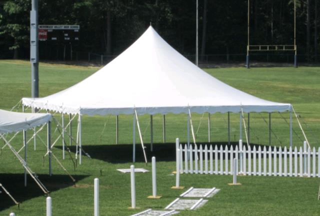 Where to find 30x30 CenturyMate Pole Tent - White in Concord