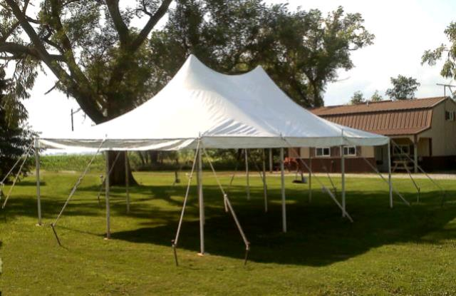 Where to find 20x30 CenturyMate Pole Tent - White in Concord
