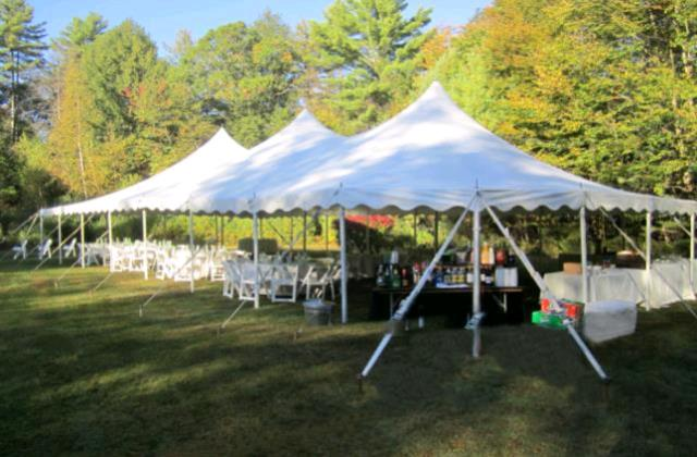 Where to find 30x60 CenturyMate Pole Tent - White in Concord