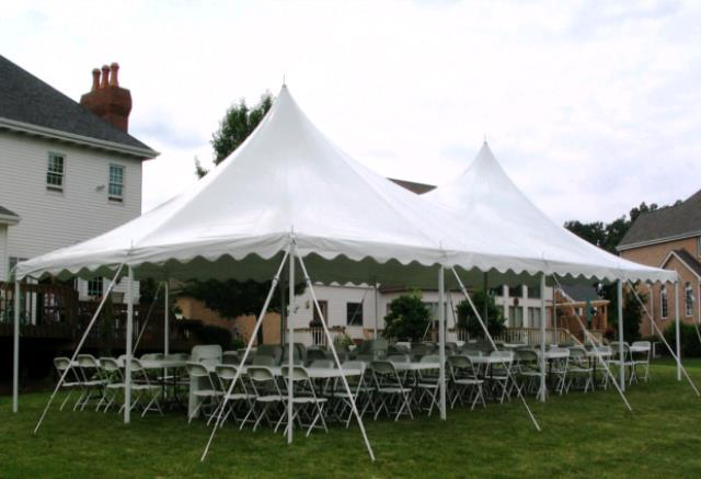 Where to find 20x40 CenturyMate Pole Tent - White in Concord