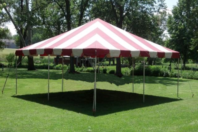 Where to find 20x20 Frame Tent Exp Red Wht in Concord