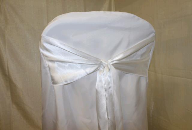CHAIR COVER WITH SASH WHITE Sales Concord NH Where to Buy CHAIR