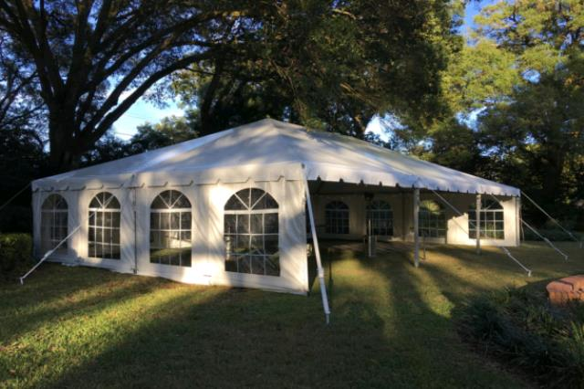 Where to find 30x60 Navi Trac Frame Tent - White in Concord