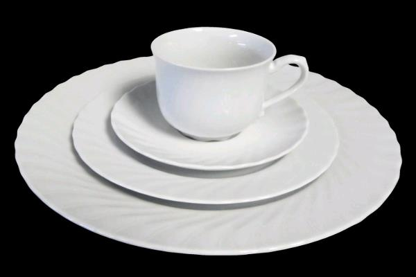 Rent White Swirl Dinnerware